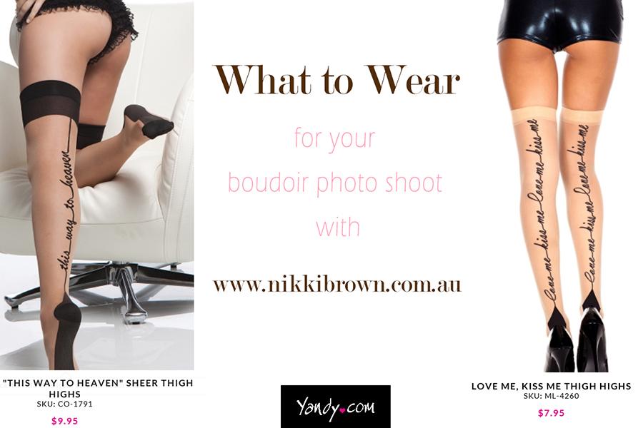 hosiery for boudoir shoot